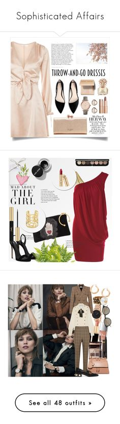"""""""Sophisticated Affairs"""" by lhocreations ❤ liked on Polyvore featuring Oh My Love, Bobbi Brown Cosmetics, Pottery Barn, MANGO, Ted Baker, FOSSIL, Trilogy, Charlotte Tilbury, Vince Camuto and Kershaw"""