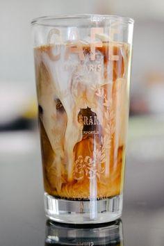 Cream and coffee: cold