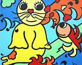 Lief schilderij van zeehondje: van Homi Articles