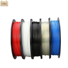 66.00$  Watch now - http://ali17t.worldwells.pw/go.php?t=32725677844 - Multi Color 5 Rolls Optional 3D Printer Filament 1.75 MM 0.5kg Plastic PLA/ABS For Reprap Prusa i3 DIY 3D Printing 66.00$