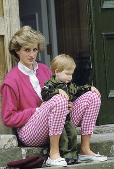 Mummy's little soldier: Harry adored his mother Diana, whose warm, empathetic character he has inherited. He has described her as the best mother in the world and spoken of her unrivalled love of life and fun. Pictured: Diana with Harry at Highgrove, then aged one, who is dressed in a camouflage outfit