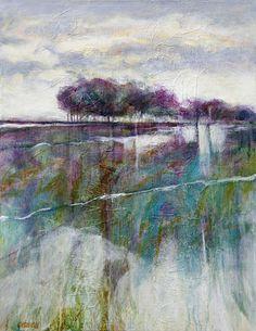 Painting by Gerard Van Velzen (Netherlands) Abstract Landscape Painting, Abstract Watercolor, Landscape Paintings, Abstract Art, Abstract Trees, Buy Paintings, Modern Artwork, Mixed Media Artwork, Art Graphique