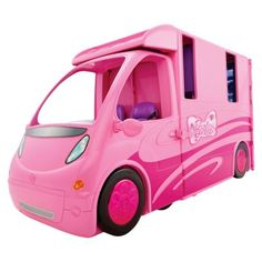 """Barbie and Her Sisters in a Pony Tale RV Vehicle (746775171049) The """"barbie & her sisters in a pony tale"""" rv vehicle is the new, stylish way for barbie to go camping. This awesome, pink, two-in-one rv separates into a comfortable barbie camper and a barbie horse trailer. Barbie can use the trailer to transport her horse to an arena or trail, while the camper has space for 4 barbie dolls to sleep, relax and make food. The kitchen has a stove, oven, sink and dining area, plus lots of fun ..."""