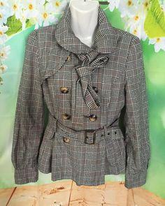TOPSHOP Ladies US Sz 6 UK 10 Sherlock Holmes London Cape Style Coat Belt NK Tie | eBay