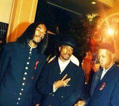Tupac Shakur and Snoop Dogg