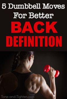 dumbbell exercises at-home workout to sculpt and define lean back muscles! Check out 5 dumbbell exercises for better back definition Dumbbell Exercises For Women, Dumbbell Back Workout, Back Exercises, Fat Workout, Workout Plans, Back Workout At Home, At Home Workouts, Exercise Workouts, Core Workouts