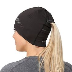 TrailHeads Ponytail Hat / Women's Performance Running Beanie with Reflective Accents - Adrenaline Series - black / reflective: Sports & Outdoors Bralette Pattern, Helmet Hair, Cap Girl, Running Accessories, Ponytail Beanie, Recycled Fashion, Clothing Hacks, Running Shirts, Hot Outfits