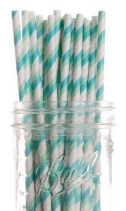 Dress My Cupcake Aqua and Green Striped Paper Straws, 600-Pack by Dress My Cupcake. $108.61. Pack of 600 Retro Aqua and Green Striped Paper Drinking Straws (7-3/4-inch long)-Great for any occasion. Our paper drinking straws are long-lasting, strong and durable, making them great for birthdays, weddings, picnics and much more. These paper straws are 100-percent biodegradable. Made from all natural material with food grade ink. FDA approved. Dress My Cupcake is the ...