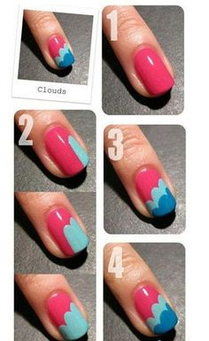 Easy DIY Nails... might be cute with pink nails to have one with a pattern like this.