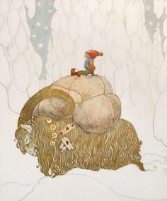 Julbocken  Artist : John Bauer.