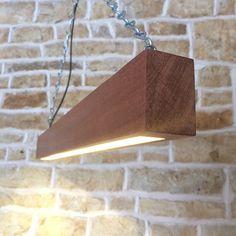 Solid Wood LED Beam Light Suspended Minimalist door Uniquelightingco