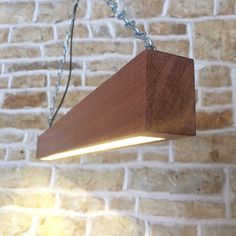 Solid Wood LED Beam Light Suspended Minimalist di Uniquelightingco  http://www.justleds.co.za