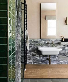 David Flack designed house in rural Victoria: photos - Vogue Australia Victoria, Small Bathroom, Master Bathroom, Modern Bathrooms, Washroom, Flack Studio, Bathroom Design Inspiration, Interior Inspiration, Luxury Office
