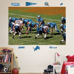 Detroit Lions - Chicago Bears Line of Scrimmage Mural