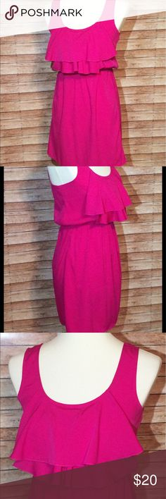 Juniors ULTRA PINK Dress Brand new condition!  Not a flaw.  Beautiful hot pink dress. 100% poly.  Feels silky.  Very lightweight.  I accept reasonable offers on all of my listings. Also, bundle and save more! Ultra Pink Dresses