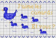 Aimez vous les petits canards ? - Les chroniques de Frimousse - Point de croix - Blog : http://broderiemimie44.canalblog.com/