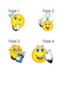 Zelfinstructiemethode van Meichenbaum met smileys
