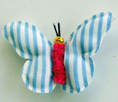 Happy Butterfly Barette hairclip/ ornament / by MissAdorable, $9.00