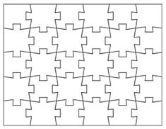 Want to make your own custom jigsaw puzzles? Use these blank jigsaw puzzle templates. There are nine printable templates and a step-by-step tutorial. Make Your Own Game, Make Your Own Puzzle, How To Make, Printable Puzzles, Templates Printable Free, Printables, Blank Puzzle Pieces, Puzzle Piece Template, Custom Jigsaw Puzzles