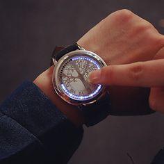 dc97ba0709c Masculino+Assista+Digital+Relógio+de+Moda+LED+ +Touchscreen
