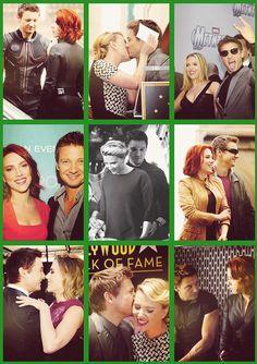 Jeremy Renner & Scarlett Johansson. I ship them.