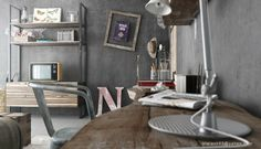 10 Easy Urban Industrial Decor Ideas For Your Urban Living Space 4 industrial bedrooms interior design Industrial Bedroom Design, Vintage Interior Design, Home Interior Design, Urban Industrial, Industrial Apartment, Industrial Style, Gray Interior, Industrial Decorating, Stylish Interior