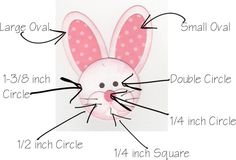 This is Harry the bunny. Isn't he adorable? He is made completely with Stampin' Up! Punch Art, Paper Punch, Hoppy Easter, Easter Bunny, Candy Cards, Card Sketches, Paper Cards, Kids Cards, Scrapbook Cards