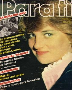 circa 1981 Parati (Italian) magazine. Front cover photo - Lady Diana Spencer before she married Prince Charles. Looks like an engagement special, Souvenir edition relating to the engagement of Prince Charles and Lady Diana Spencer in Feb 1981.