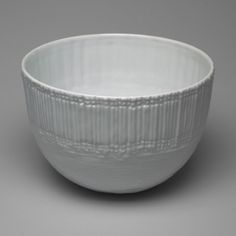 "Bowl  Elsa Fischer-Treyden (German, born Russia. 1901–1995) and Margret Hildebrand (German, born 1917)    1966. Glazed porcelain, 4 3/4 x 7 1/8"" (12 x 18.1 cm). Manufactured by Rosenthal Porzellan A.G., Selb, Germany."