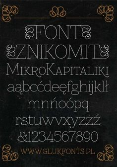 Free Font Znikomit by Grzegorz Luk, via Behance A classic yet slightly different font for your DIY invites? History Of Typography, Typography Served, Typography Letters, Graphic Design Typography, Lettering, Initial Fonts, Doodle Fonts, Best Free Fonts, Typeface Font