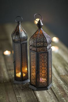 Mothology.com - Small Perforated Metal Moroccan Lanterns, $39.00 (http://www.mothology.com/small-perforated-metal-moroccan-lanterns/)