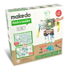 Make Do Find & Make a Robot by Make Do, http://www.amazon.com/dp/B003XNTQVK/ref=cm_sw_r_pi_dp_ZuJTqb0BAT6S3