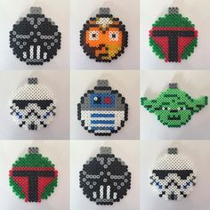 Star Wars Christmas baubles hama beads by jetten99