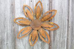 19 Sm Rustic Metal Flower Wall Hanging