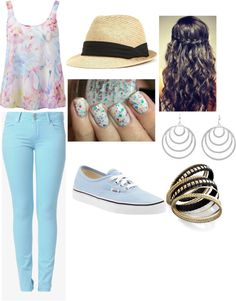 """California Summer Outfit"" by thaliagarcia ❤ liked on Polyvore"
