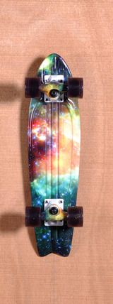 Globe Bantam ST Skateboard Complete - Galaxy a penny board seems easer to… Board Skateboard, Skateboard Design, Skateboard Decks, Penny Skateboard, Skates, Long Skate, Abercrombie Girls, Cool Skateboards, Skate Decks