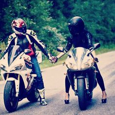 """Love starts on a motorcycle"""