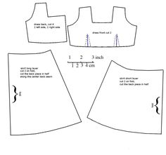 MSD sized dress pattern, for about an 18cm bust