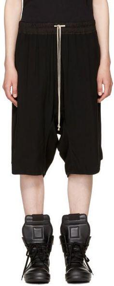 Rick Owens Black Basket Swingers Shorts