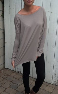 Oversize Raglan Shirt Long Sleeve  Womens Clothing Top by lamixx, big shirts gifts Christmas