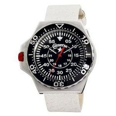 ddb2a9e3a57 Converse Foxtrot Culture Black Dial White Leather Unisex Watch (W-VR-008-