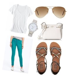 """""""Work or school outfits"""" by madelynblanton on Polyvore featuring Old Navy, Horny Toad, Billabong, Kate Spade and Ray-Ban"""