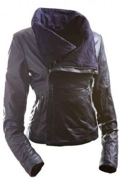 E Funk Women's 100 % Lamb Leather Fitted Asymmetric Jacket  Price:$599.00 - Price:$199.00