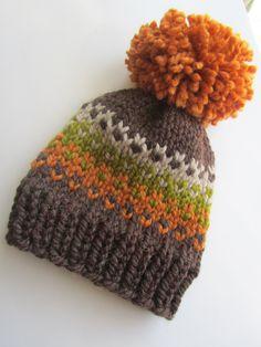 Loom Knit Hat, Loom Knitting, Knit Beanie, Baby Knitting, Knitted Hats, Knitting Patterns, Knit Hat For Men, Crochet Cap, Fair Isle Knitting