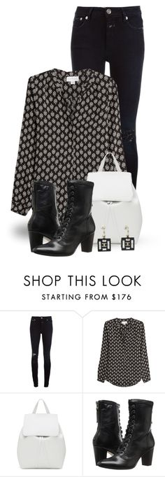 """""""Black & White (outfit only) 2355"""" by boxthoughts ❤ liked on Polyvore featuring Closed, Velvet, Mansur Gavriel, Johnston & Murphy and Chanel"""