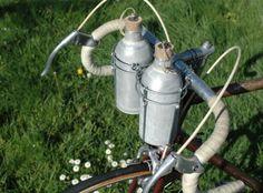 Porte bidon de vélo noir en aluminium vintage ancien rétro porte-bidon