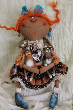 Купить Кискомания... - комбинированный, текстильная кукла, ароматизированная…