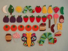 The Very Hungry Caterpillar Felt Board by JillyPooCreations