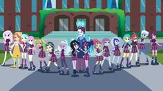 Here are the girls of Crystal Prep Academy, including the characters from Season Five. Human Twivine Sparkle also has enrolled in the school as well. The Girls of Crystal Prep Academy My Little Pony Equestria, Equestria Girls, Friendship Games, My Little Pony Friendship, Manado, Dragon Occidental, Prep Academy, Mlp Twilight Sparkle, My Little Pony Wallpaper