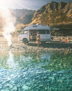 Wanaka, New Zealand with Cleo Codrington Skinny Dips, Wanaka New Zealand, Camper Van Life, Bus Girl, Alpine Lake, Van Camping, Camping Hacks, Outdoor Survival, Travel Aesthetic